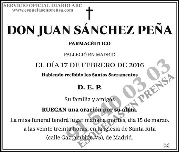 Juan Sánchez Peña